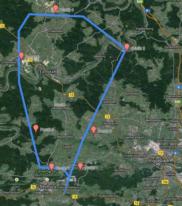 Flugroute (Auf Bild klicken um zur großen Karte zu gelangen)