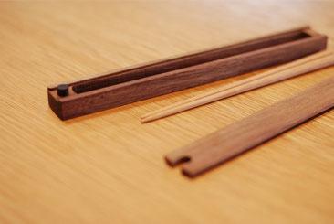 木の箸と箸箱