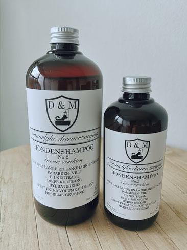 DM4U-D&M-Natuurlijke-dierverzorging-honden-hond-puppy-pup-shampoo-conditioner-parfum-hondenshampoo-parabeen-vrij-PH-neutraal-groene-vruchten-250ml-500ml