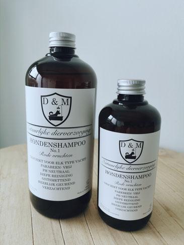 DM4U-D&M-Natuurlijke-dierverzorging-honden-hond-puppy-pup-shampoo-conditioner-parfum-hondenshampoo-parabeen-vrij-PH-neutraal-rode-vruchten-250ml-500ml