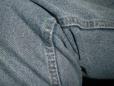 die Kappnaht kennen wir als die typische Jeansnaht