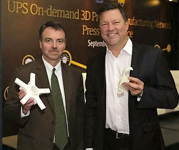 UPS Asia-Pacific president Ross McCullough (left) and Rick Smith, co-founder and CEO of Fast Radius.
