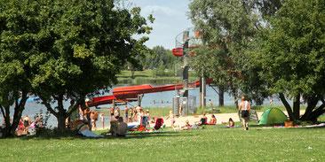 Mondsee Hohenmölsen, Badesee Zeitz, baden , zelten, schwimmen, see