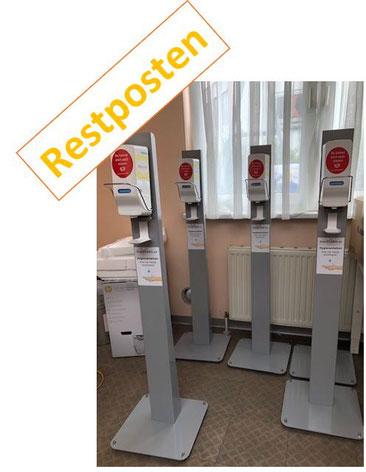 Desinfektionsstation Farbe Grau Metall - DesiSTAND Desinfektionsspender