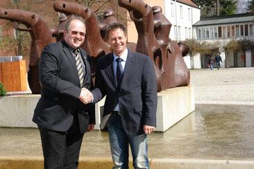 Erstes Kennenlernen von Bürgermeister Dr. Alfred Pohl und Neumarkts OB Thomas Thumann im Jahr 2010 (Foto: Franz Janka)
