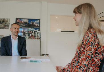Laura Klar im Gespräch mit Melanie Jungmann (Marketing & Datenschutz im BSW Muldental)