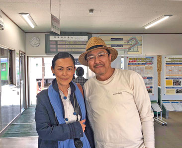 「俱知安駅にて」偉大なる菅谷シェフはとても気さくで人間味のあるかた