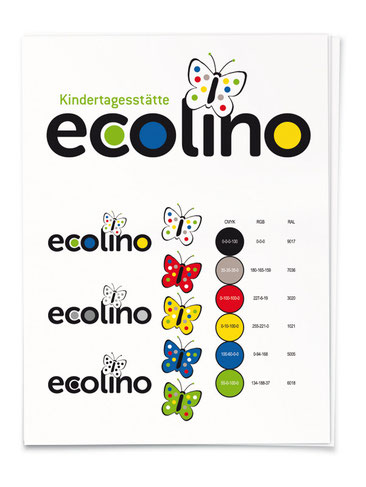 Logoentwicklung Kindertagesstätte ecolino