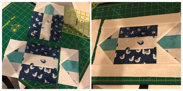 Patchwork Block Fisch mit Flying Geese