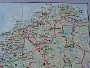 mögliche Strecken zum Nordcap
