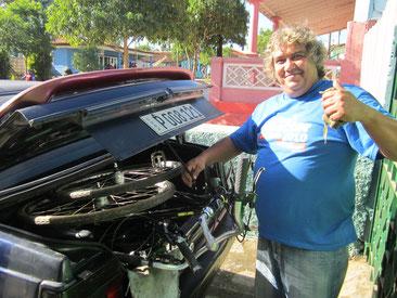 Unser Taxifahrer nach Viñales nach Trinidad