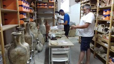 A l'occasion des prélèvements au dépôt archéologique de Port-Vendres