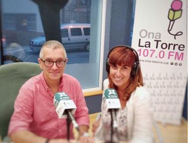D'esquerra a dreta: Josep Maria Solé i Mònica Socias