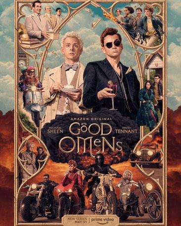 "Poster de la sèrie de ""Good omens"""
