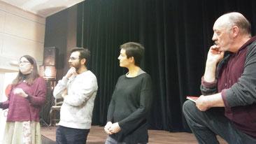 D'esquerra a dreta: Caterina Riba, Dani Torrent, Laura Casaponsa i Carles Ibáñez