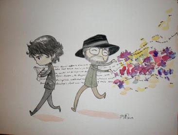 """""""Així No És Com Buenos Presagios Es Va Escriure"""" Algunes persones consideraven que Neil Gaiman va ser qui escrigué la trama del llibre i que en Terry anava al seu darrere escampant totes les bromes."""