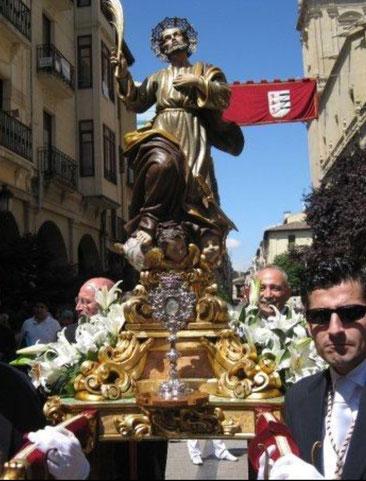 San Bernabé con sus cofrades, Vitin, Juan Bernabé, Diego...