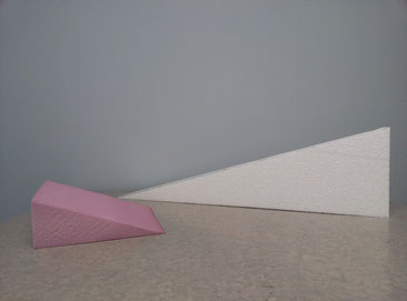 Pink: 8x8x3 wedge and white: 15° wedge pictured