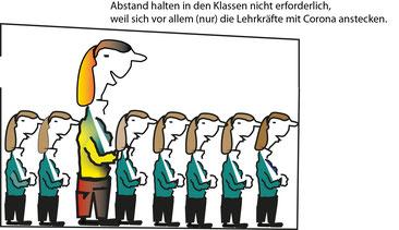 Bildungslandesrätin Schöbi-Fink: Abstand in den Klassen nicht erforderlich, weil Haushaltsgemeinschaften und sich vor allem (nur) die Lehrkräfte mit Corona anstecken. Bild:spagra