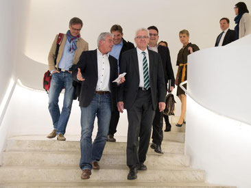 Thomas Strobl (l) und Winfried Kretschmann sind sich einig. Foto: Deniz Calagan