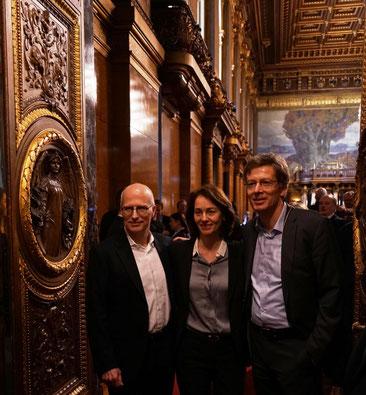 Peter Tschentscher, Katarina Barley und Dirk Kienscherf (v.l.)
