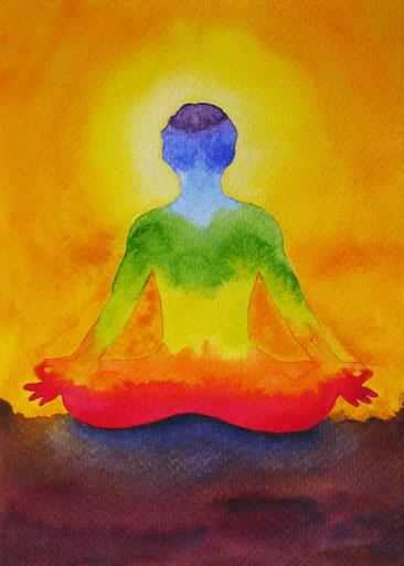 Die ChakraFarben und ihr Sitz im Körper