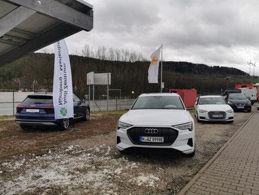 E-Tron von Audi auf dem iKratos Firmengelände