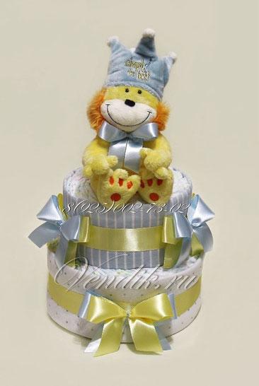 """Торт из памперсов  и пелёнок """"Король Лев"""" ©"""