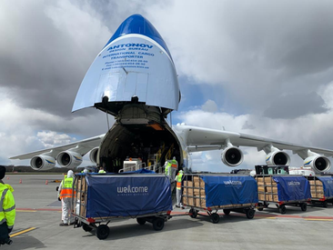 Offloading of the AN-225 Mriya in Warsaw, Poland. Image: Antonov Airlines