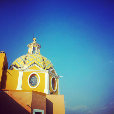 One of the many churches in Puebla