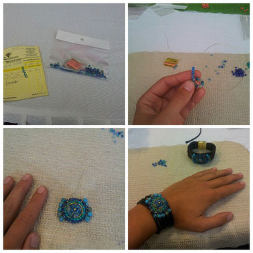 The bracelet I made in the course. I took the photos so that I can make another one.
