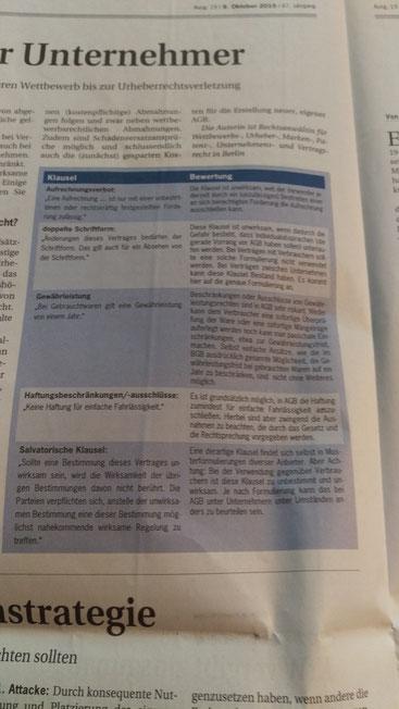 """Ein interessanter Artikel hierzu findet sich in der aktuellen Ausagbe der """"Deutschen Handwerkszeitung"""""""