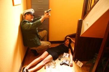 Tote im Treppenhaus