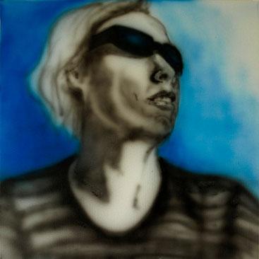 Me * Airbrush auf Baumwollgewebe * 50 x 50 cm * 2011