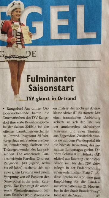 Wochenspiegel 10/2015