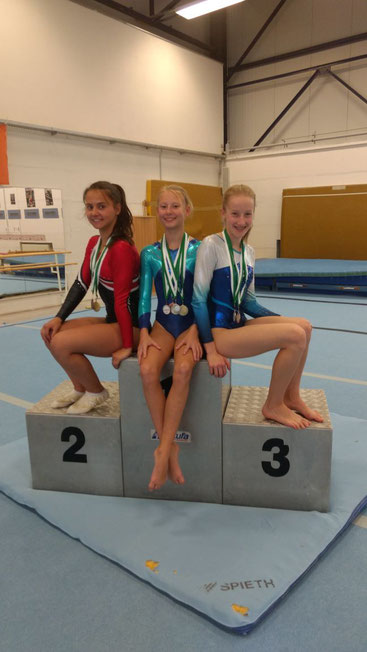Unsere Landesmeisterinnen v.l. Lara, Alina, Anna