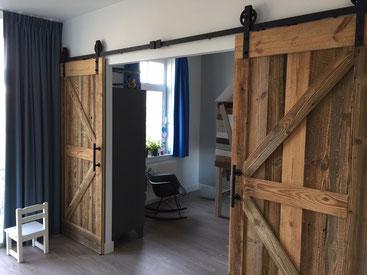 Barnwood dubbele deuren