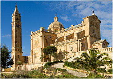 Базилика Девы Марии Та'Пину. Острове Гозо (Мальта). Январь 2012 г.