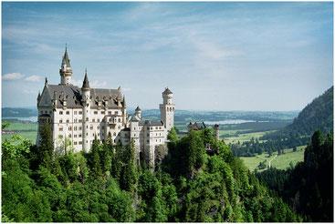 Замок Нойшванштайн. Германия. Июнь 2001 г.