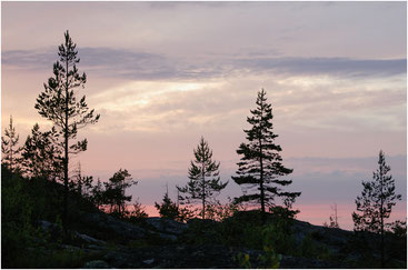 Северный закат. Архипелаг Кузова, Карелия. Июль 2005 г.