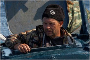 Николай - наш капитан. Карелия. Июль 2007 года.