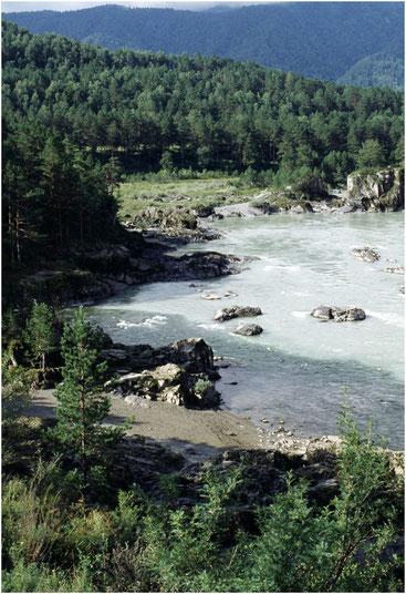 Слияние Чемала и Катуни. Алтай. 2003 г.