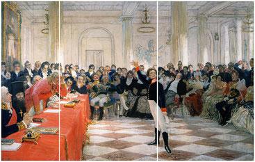 Илья Репин. А. С.Пушкин на акте в Лицее 8 января 1815 г.