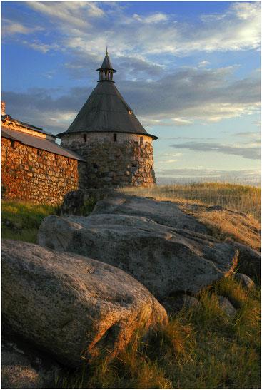Башня Соловецкого монастыря. Архангельская область. Июль 2005 г.