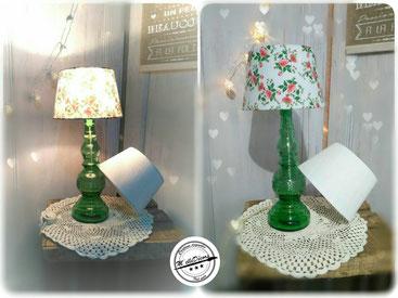 lampe des années 70 en verre location decoration mariage vintage champetre le mans sarthe m'elledecors