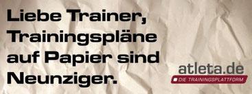 Trainingsplansoftware atleta.de - Die Trainingsplattform