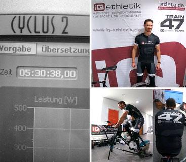 Andreas Wagner auf dem Fahrradergometer mit InfoCrank auf der TCE