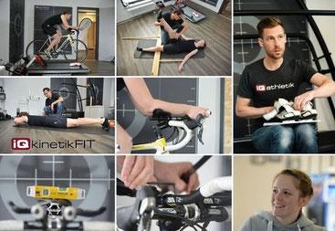 Vermessen und Einstellen der optimalen Sitzposition auf dem Fahrrad