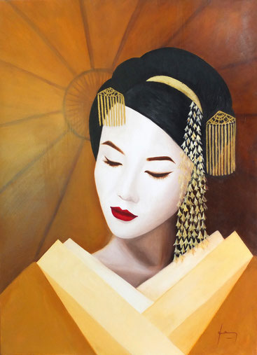 Visage de femme maquillage et costume traditionnel chinois