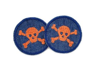 Jeans patch Totenkopf skull mini Jeansflicken Kinder Erwachsene